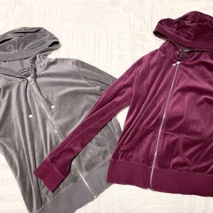 Victoria Secret Velvet Zip Up Hoodie Bundle